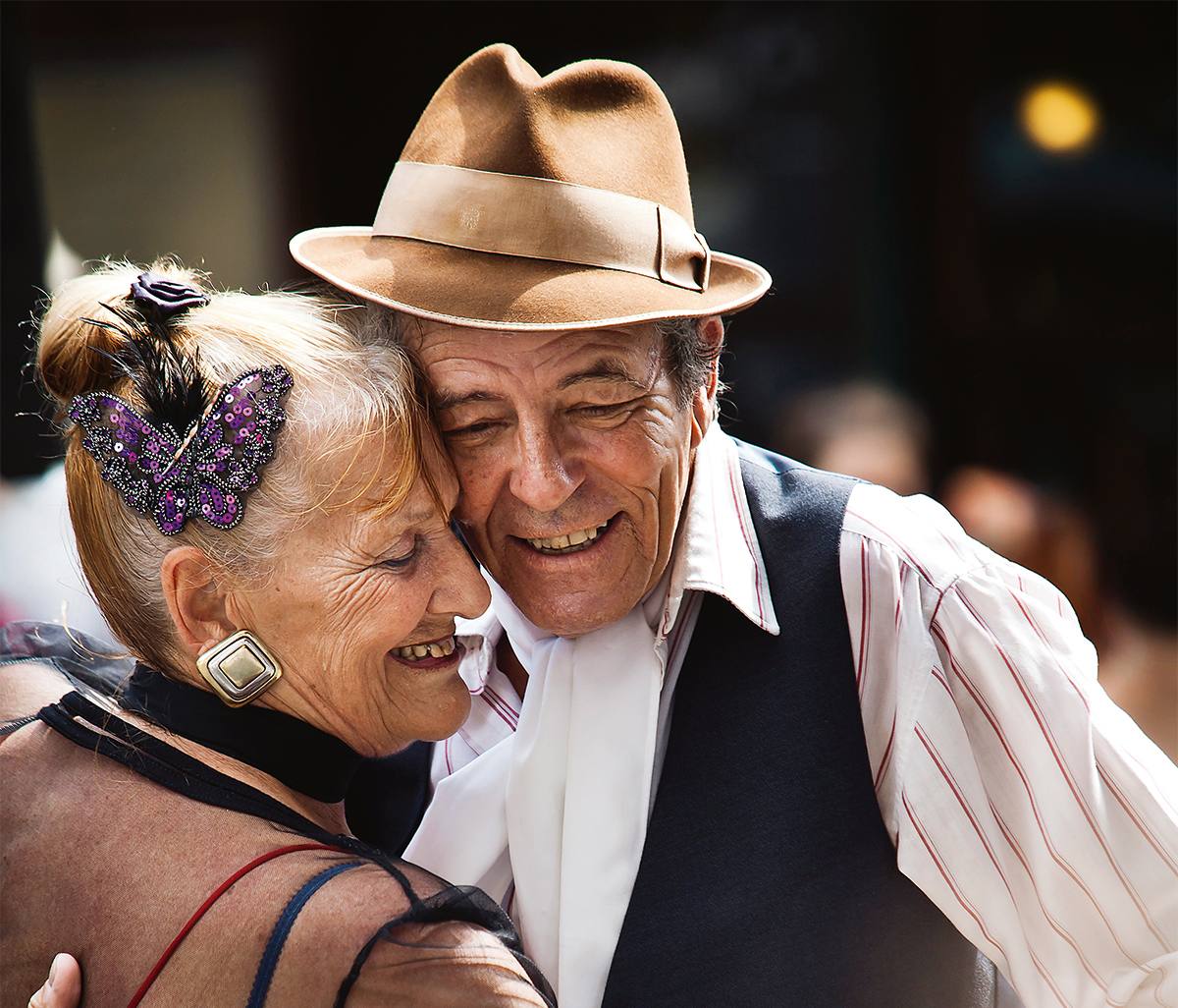 Dancing the tango in San Telmo, Buenos Aires